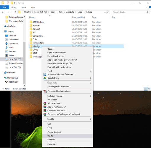 completely delete application windows 10