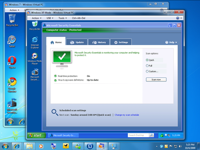 windows virtual pc update not applicable to your computer