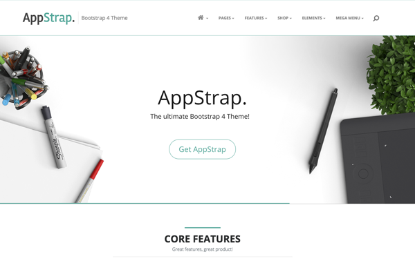 bootstrap web application template free download