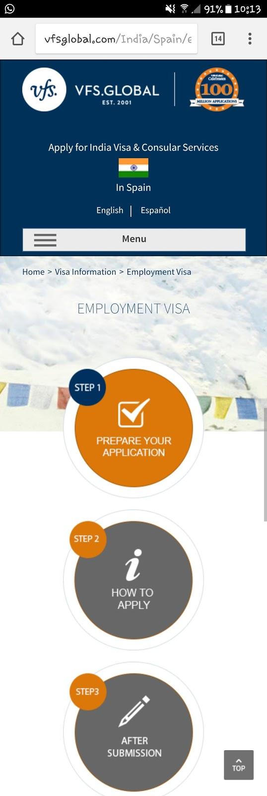 vfs global tourist visa application