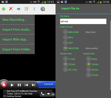 how to make applications appear in audio