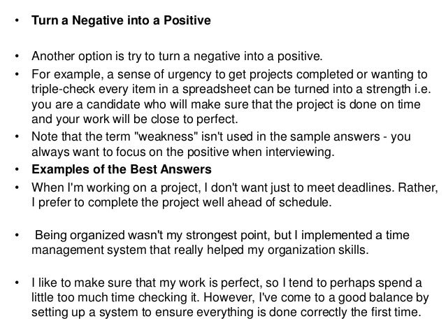 standed negative answer to job applicant