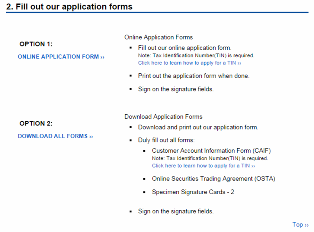 col financial application form download