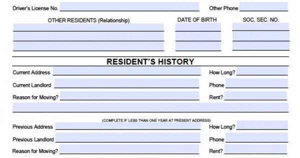 denovans real estate rental application