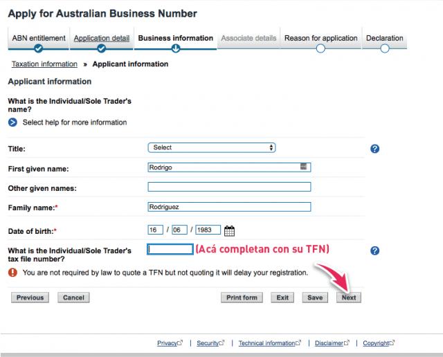 abn partnership application associate tfn