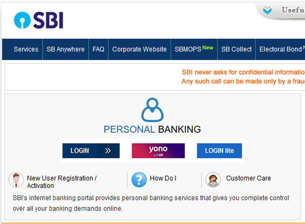 sbh online net banking application form