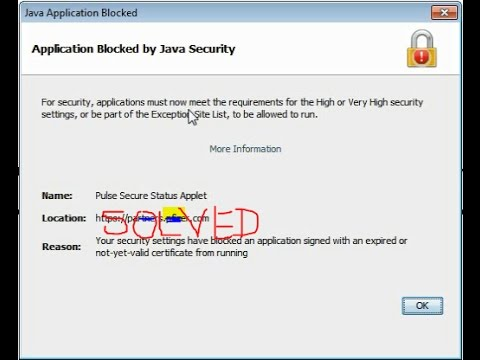 application blocked by jave security