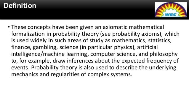 application of probability in physics