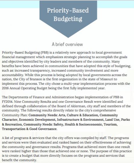 application of zero based budgeting