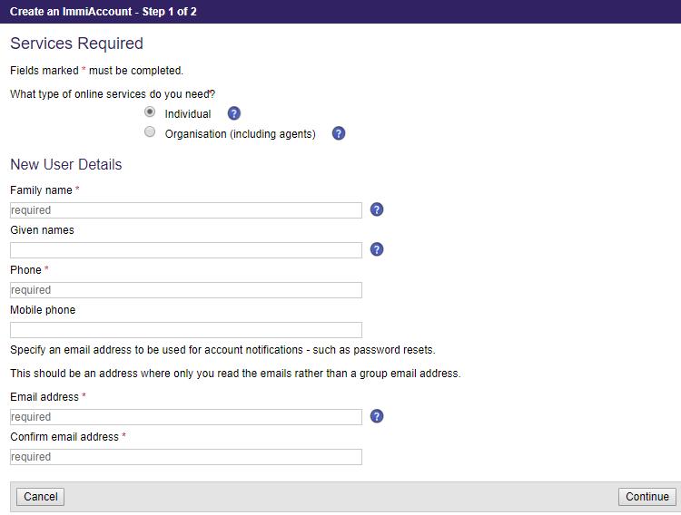 application visa australia visitor two people