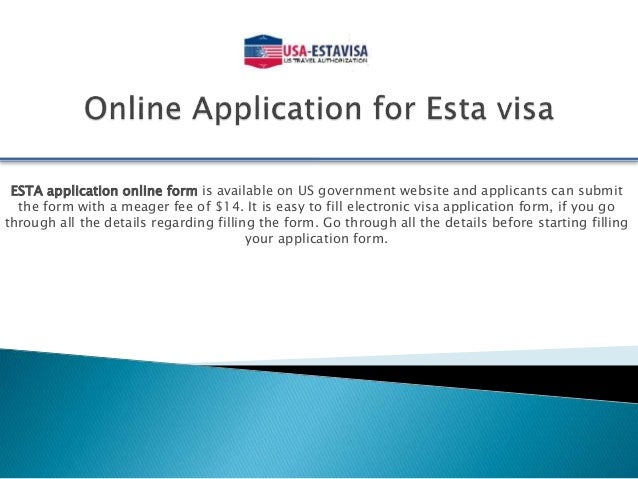 apply on line for c3 visa application