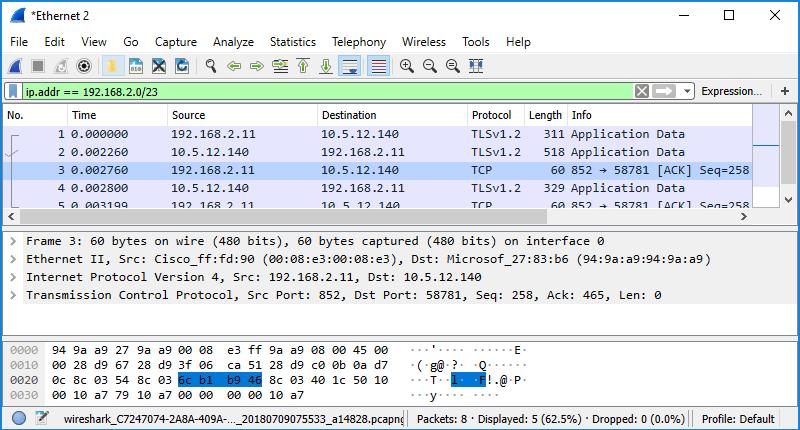 identify ip address on network application