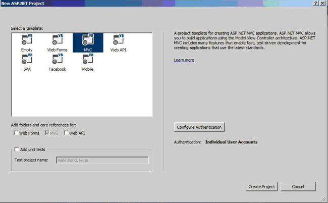 c hello world web application