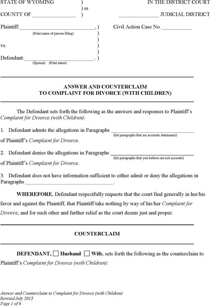 divorce application form free download qld