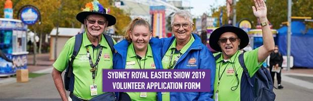 sydney royal easter show returning volunteer application forms