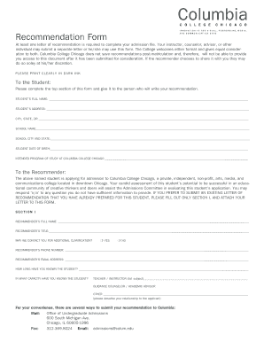 columbia college chicago housing application