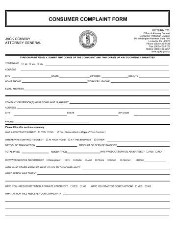 consumer affairs application for complaint residential builder