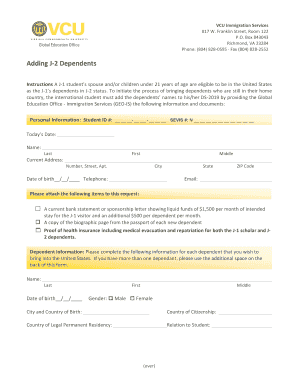 une international student application form