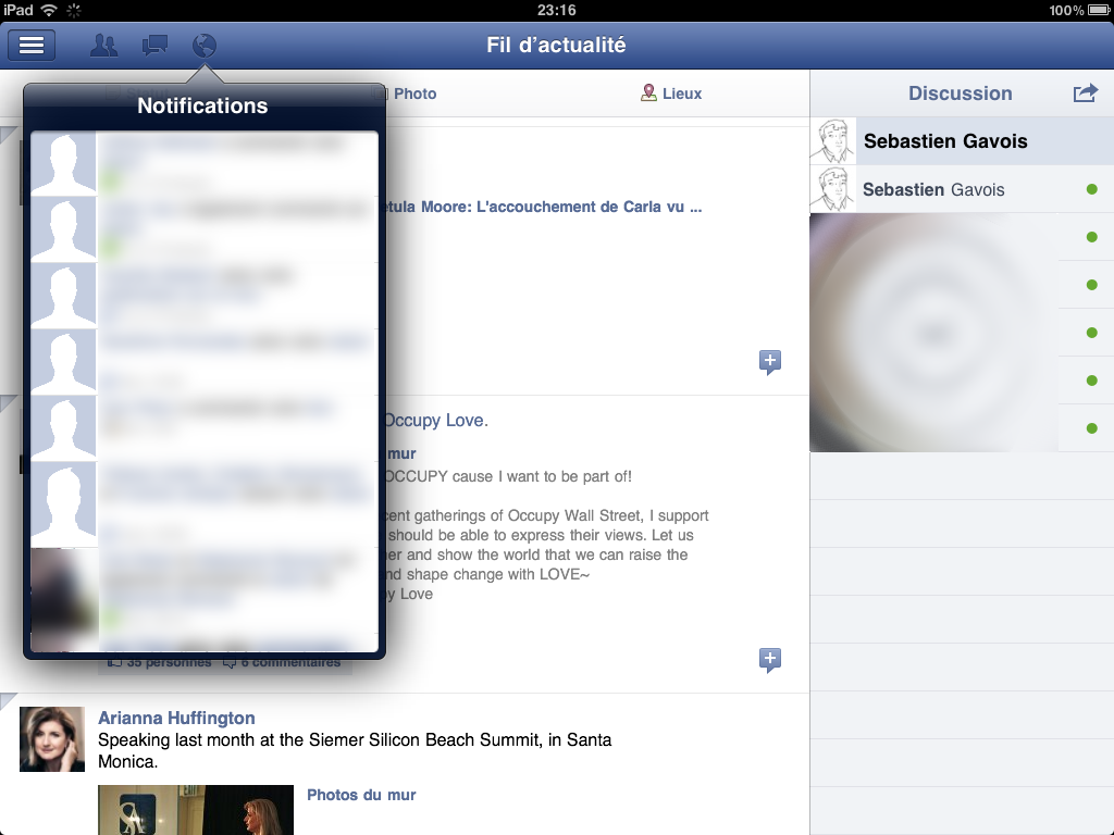 facebook sms for web application