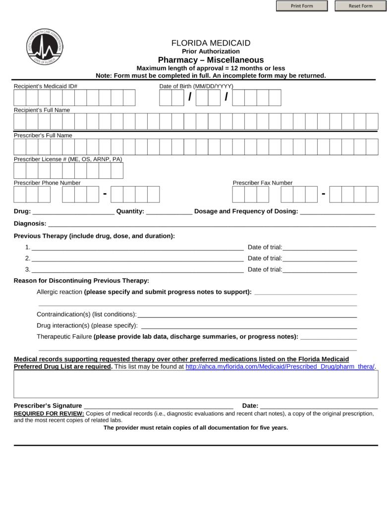 florida medicaid application form pdf