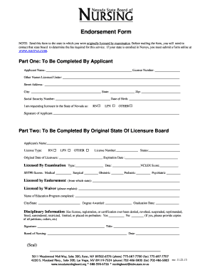 illinois rn license by endorsement application