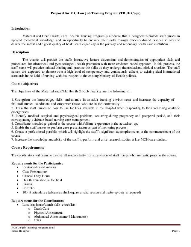 job application for child nursing
