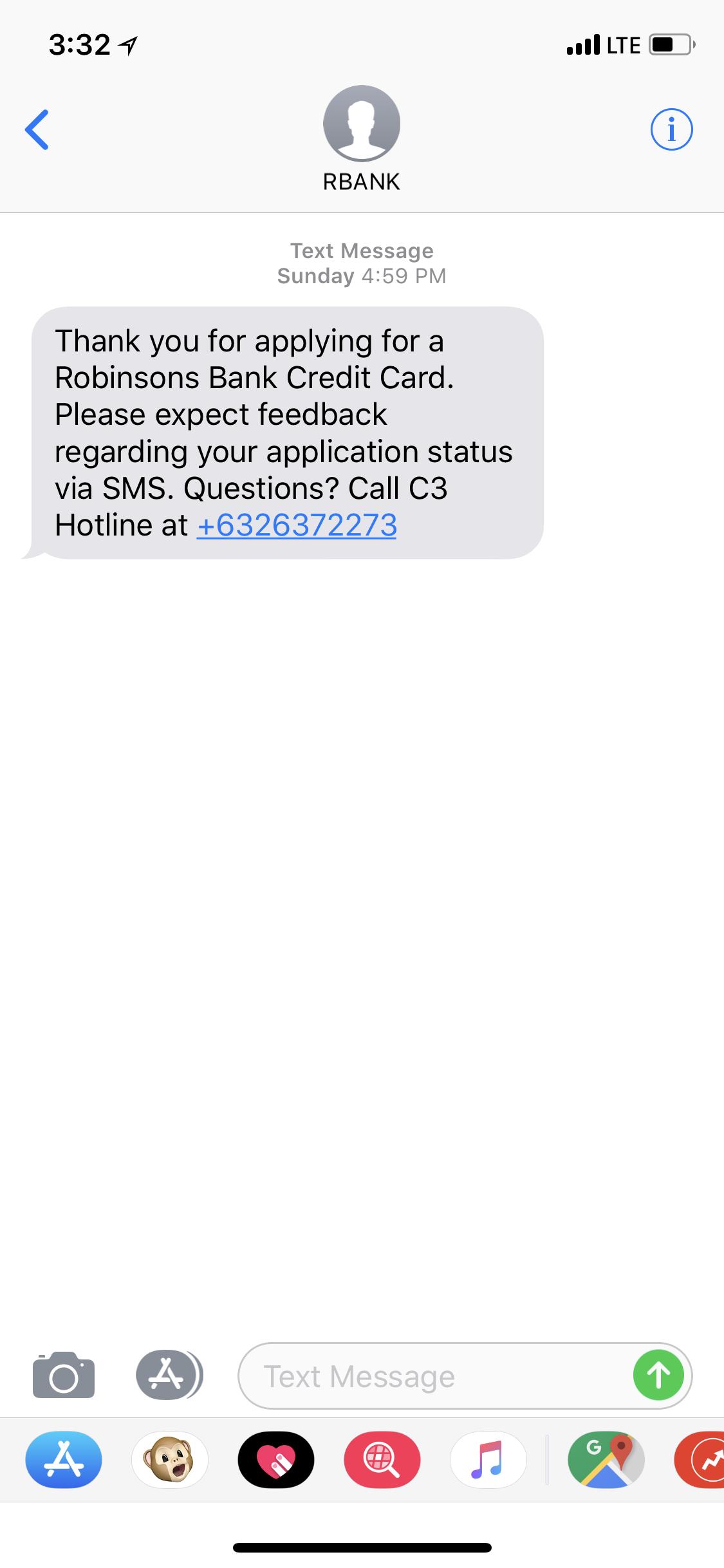 rcbc credit card application follow up