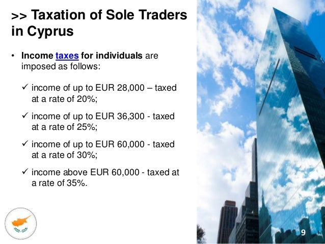 taxes applicable to a sole trader