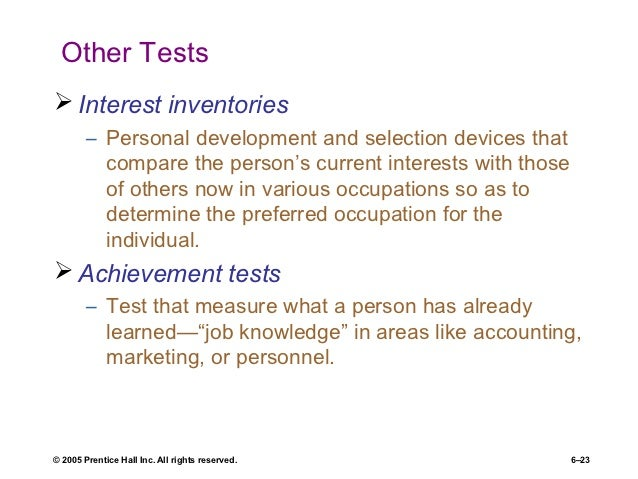the main purpose of selection is to compare applicants