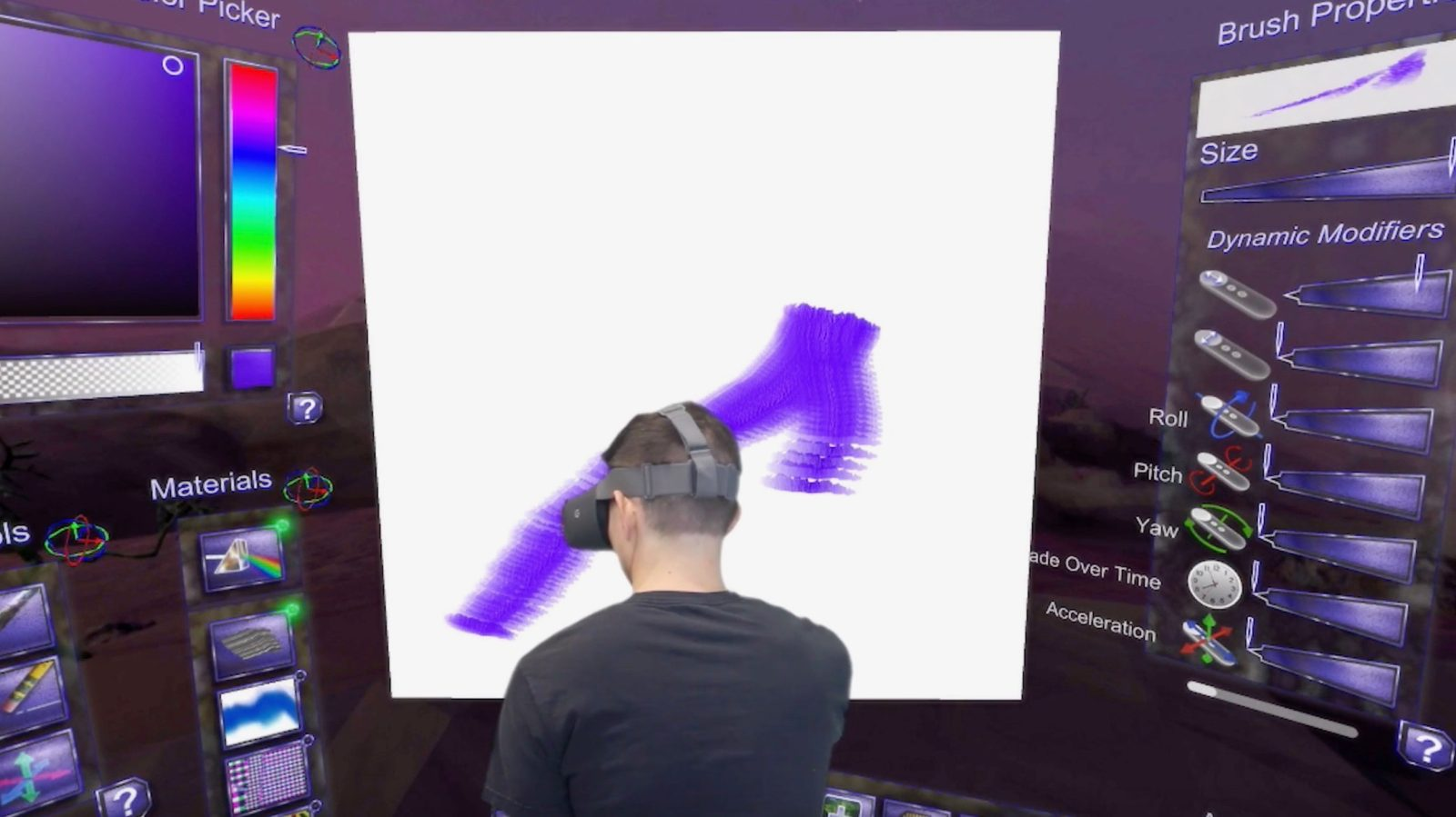 virtual reality application in film