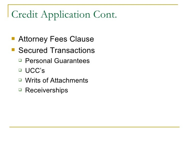 what is an application for credit