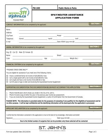 www stjohns in application form